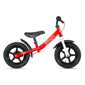 """RoyalBaby ChipMunk Bici senza pedali in acciaio 12"""" Bambino, rosso"""